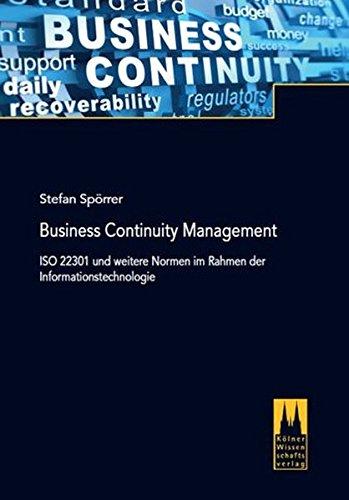 Buchcover: Business Continuity Management